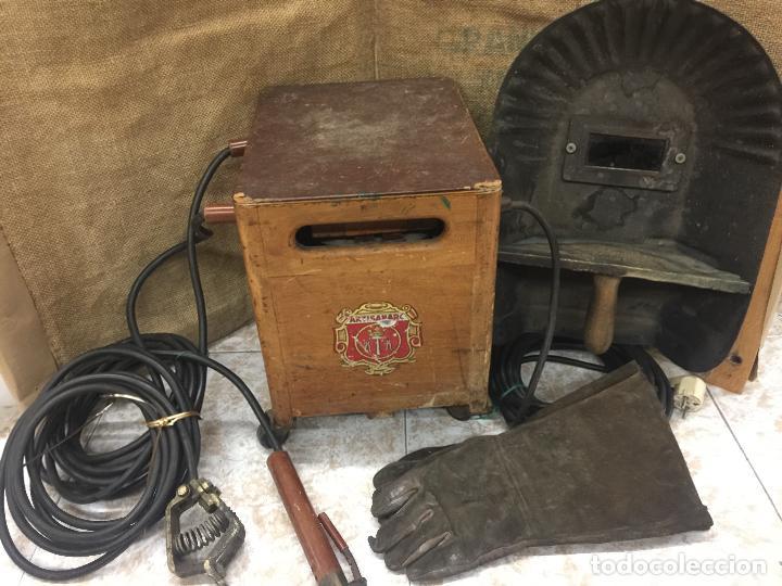 Antigüedades: Excepcional soldador antiguo, completo. Buen estado. ARTISANARC, caja original de madera. J&G HAMAL - Foto 18 - 159500034