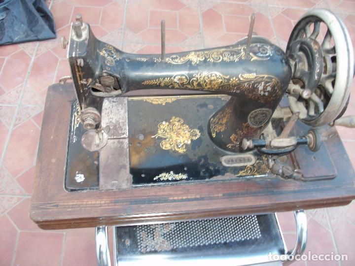 Antigüedades: ANTIGUA MAQUINA COSER MANUAL - Foto 3 - 159575538