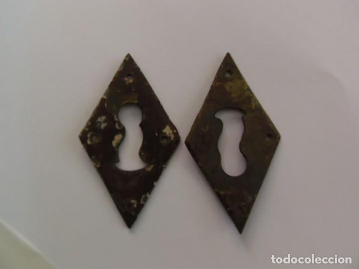 Antigüedades: 2 bocallaves cobre - Foto 2 - 159965506