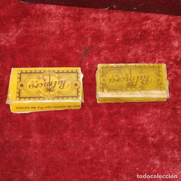 Antigüedades: ESTUCHE DE BARBERO. NAVAJAS DE AFEITAR. ESPAÑA. ESTADOS UNIDOS SIGLO XX - Foto 15 - 159998906