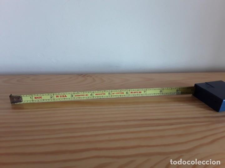 Antigüedades: Flexómetro, medidas imperiales - Foto 2 - 160026746