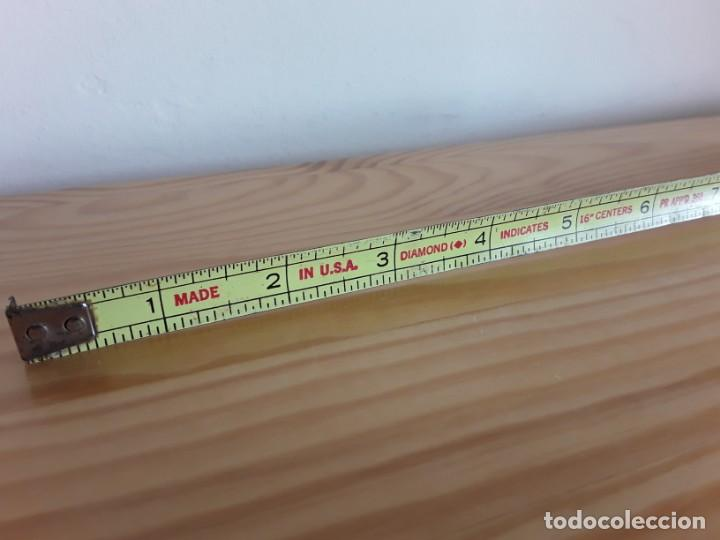 Antigüedades: Flexómetro, medidas imperiales - Foto 4 - 160026746
