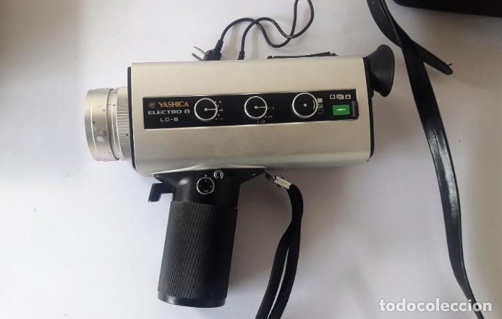 CAMARA DE SUPER 8 MM. YASHICA ELECTRO 8, LD-6 (Antigüedades - Técnicas - Aparatos de Cine Antiguo - Cámaras de Super 8 mm Antiguas)