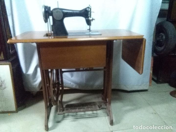 MUY ANTIGUA MAQUINA DE COSER ALFA, MUY BUEN ESTADO Y FUNCIONANDO (Antigüedades - Técnicas - Máquinas de Coser Antiguas - Alfa)