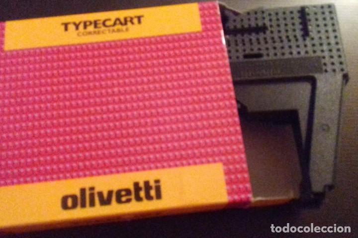 CARTUCHO CINTA MÁQUINA DE ESCRIBIR OLIVETTI TYPECART CORRECTABLE COD. 80836. CINTA NUEVA. (Antigüedades - Técnicas - Máquinas de Escribir Antiguas - Olivetti)