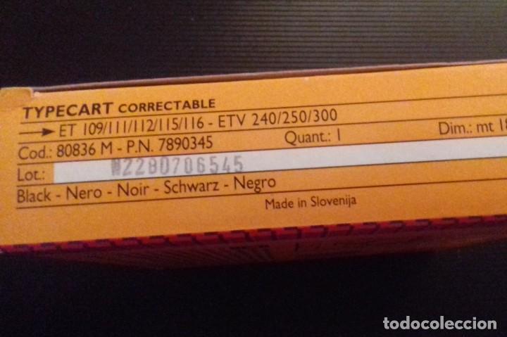 Antigüedades: Cartucho cinta máquina de escribir OLIVETTI Typecart Correctable Cod. 80836. Cinta Nueva. - Foto 2 - 261281070