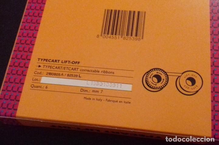 Antigüedades: Caja Cintas correctoras OLIVETTI Typecart Lift Off. Con 4 cintas nuevas. - Foto 2 - 160192406