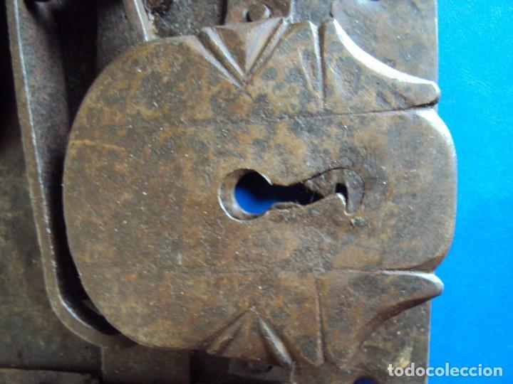 Antigüedades: (ANT-190490)CERRADURA CON LLAVE DE FORJA - SIGLO XVIII-XIX - FUNCIONANDO - Foto 7 - 160244966