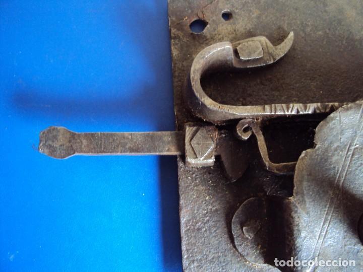 Antigüedades: (ANT-190491)CERRADURA CON LLAVE DE FORJA - SIGLO XVIII-XIX - FUNCIONANDO - Foto 6 - 160245394