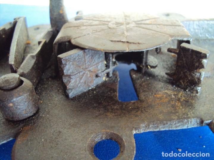 Antigüedades: (ANT-190493)CERRADURA CON LLAVE DE FORJA - SIGLO XVIII-XIX - FUNCIONANDO - Foto 9 - 160246362
