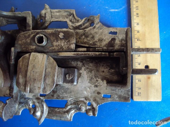 Antigüedades: (ANT-190494)CERRADURA CON LLAVE DE FORJA - SIGLO XVIII-XIX - FUNCIONANDO - Foto 6 - 160246578