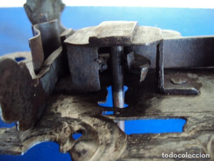 Antigüedades: (ANT-190494)CERRADURA CON LLAVE DE FORJA - SIGLO XVIII-XIX - FUNCIONANDO - Foto 12 - 160246578