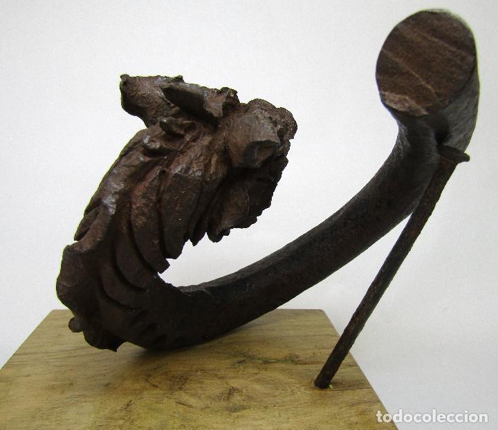 Antigüedades: DRAGON HIERRO FORJADO MODERNISTA - Foto 5 - 160248354