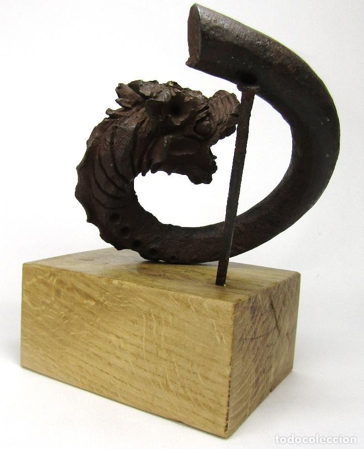 Antigüedades: DRAGON HIERRO FORJADO MODERNISTA - Foto 7 - 160248354