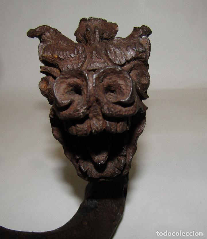 Antigüedades: DRAGON HIERRO FORJADO MODERNISTA - Foto 23 - 160248354