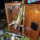 Antigüedades: MICROSCOPIO COMPLETO. SIGLO XIX . Lote 160265190