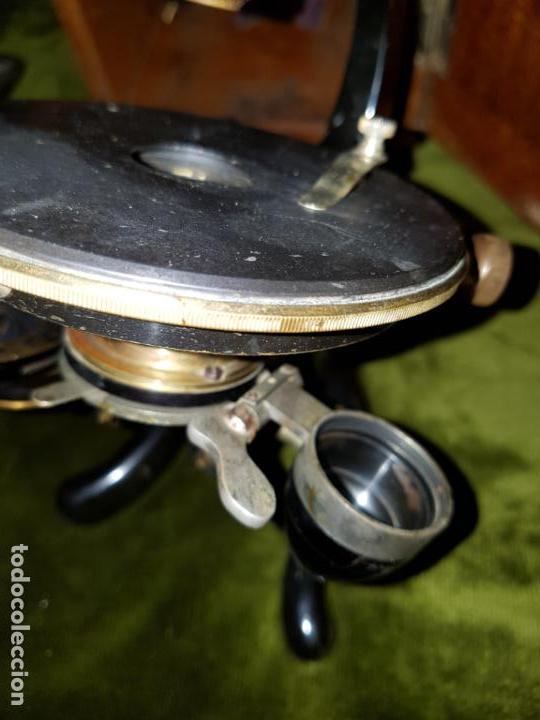 Antigüedades: MICROSCOPIO COMPLETO. SIGLO XIX - Foto 9 - 160265190
