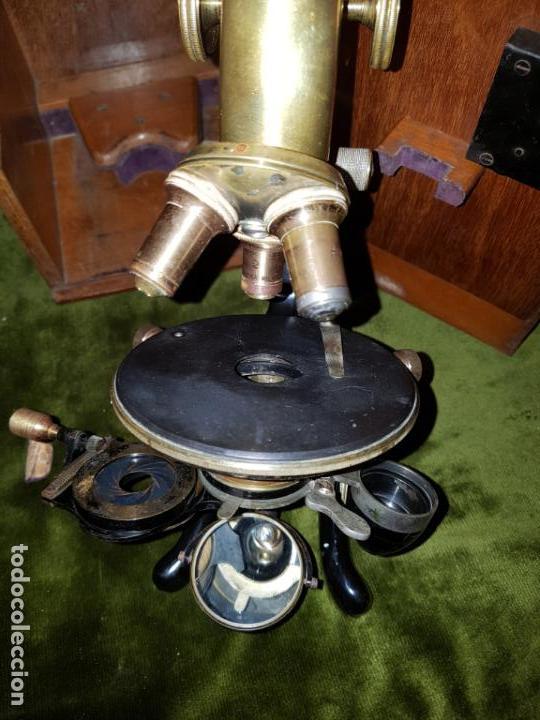 Antigüedades: MICROSCOPIO COMPLETO. SIGLO XIX - Foto 11 - 160265190