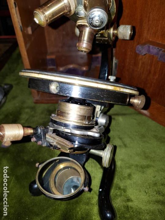 Antigüedades: MICROSCOPIO COMPLETO. SIGLO XIX - Foto 12 - 160265190
