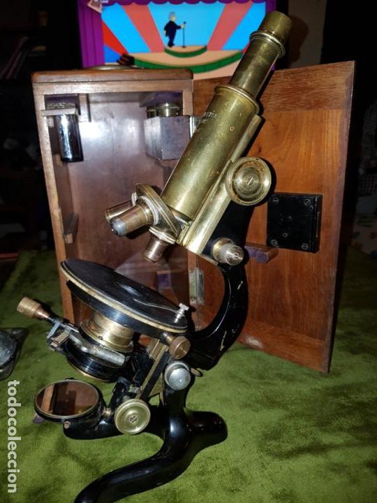 Antigüedades: MICROSCOPIO COMPLETO. SIGLO XIX - Foto 13 - 160265190