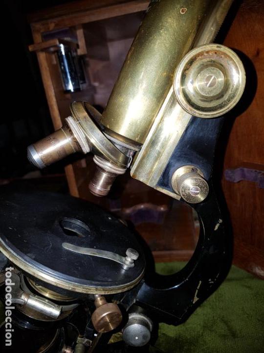Antigüedades: MICROSCOPIO COMPLETO. SIGLO XIX - Foto 15 - 160265190
