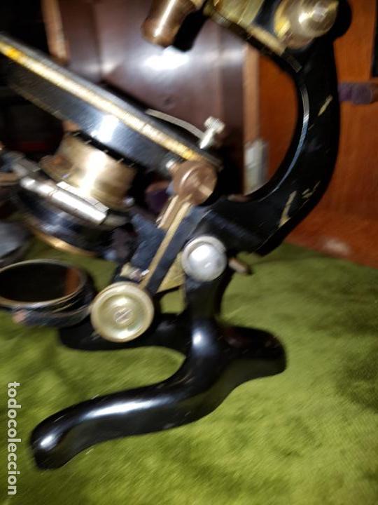 Antigüedades: MICROSCOPIO COMPLETO. SIGLO XIX - Foto 16 - 160265190