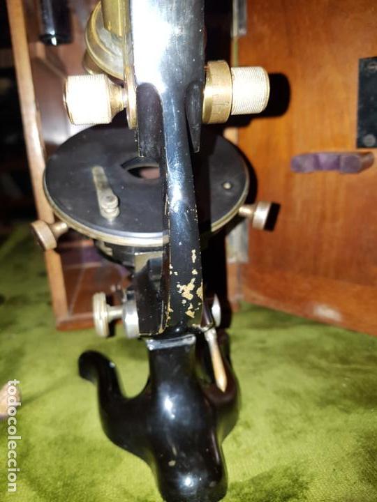 Antigüedades: MICROSCOPIO COMPLETO. SIGLO XIX - Foto 19 - 160265190