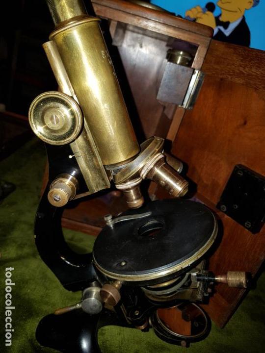 Antigüedades: MICROSCOPIO COMPLETO. SIGLO XIX - Foto 22 - 160265190