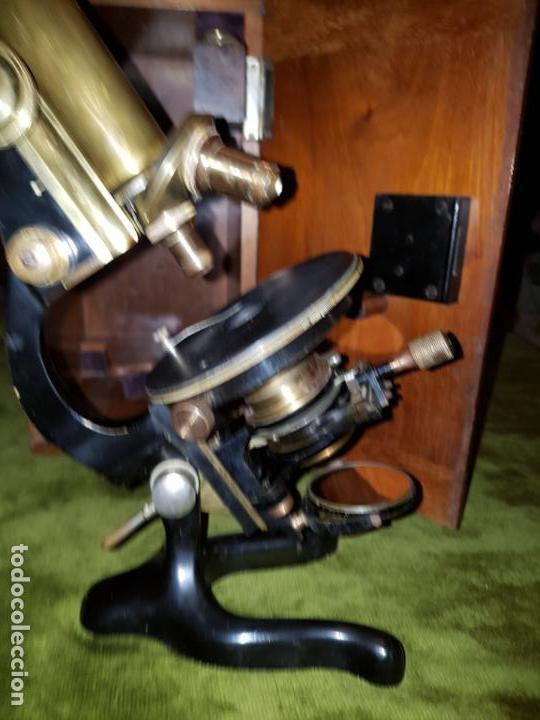 Antigüedades: MICROSCOPIO COMPLETO. SIGLO XIX - Foto 23 - 160265190