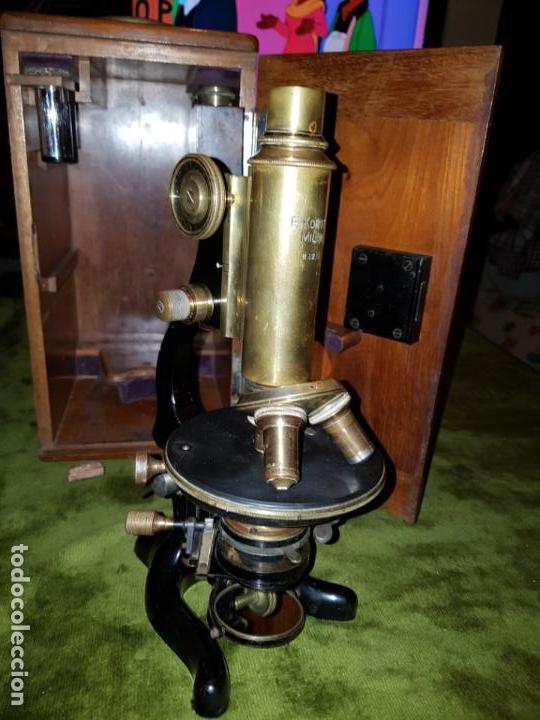 Antigüedades: MICROSCOPIO COMPLETO. SIGLO XIX - Foto 25 - 160265190