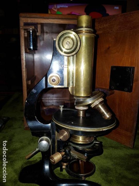 Antigüedades: MICROSCOPIO COMPLETO. SIGLO XIX - Foto 26 - 160265190
