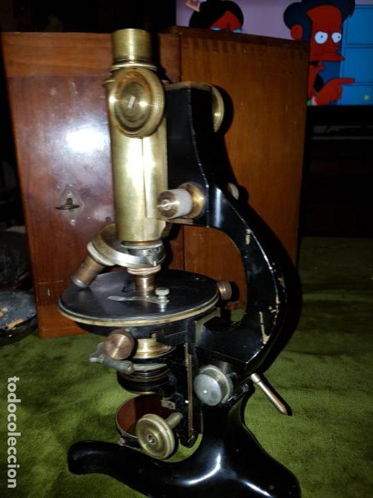Antigüedades: MICROSCOPIO COMPLETO. SIGLO XIX - Foto 28 - 160265190