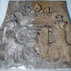 Antigüedades: PRECIOSO NEGATIVO EN CARTÓN PARA PLACA DE CHIMENEA. Lote 160296254