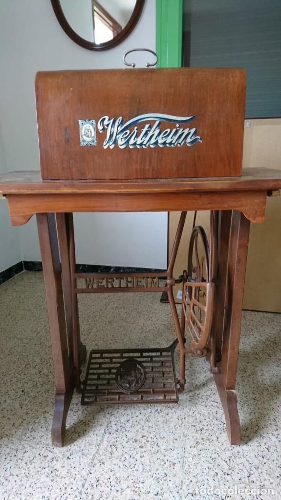 Antigüedades: Maquina de coser wertheim antigua - Foto 2 - 160305410
