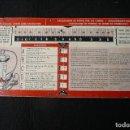 Antigüedades: ANTIGUA TABLA=CALCULADOR PERDIDA DE GASES DE COMBUSTION-BACHARACH=. Lote 160340458