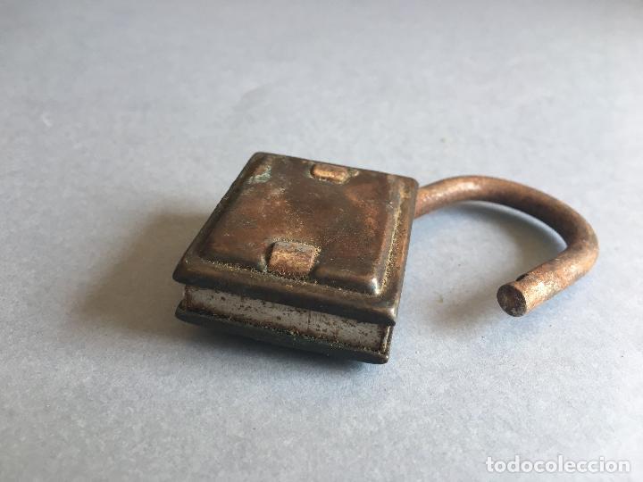 Antigüedades: ANTIGUO CANDADO DE HIERRO - Foto 3 - 160379662