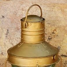 Antigüedades: ANTIGUO Y GRAN FARO DE BARCO - LÁMPARA NÁUTICA - PIEZA NUMERADA - ILUMINACIÓN VINTAGE - 360º - RARO. Lote 160399906