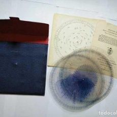 Antigüedades: IDENTIFICADOR DE ASTROS ESTRELLAS DE 1964 BASADO STAR FINDER AND IDENTIFIER 2102-D REGLA DE CALCULO. Lote 160445814