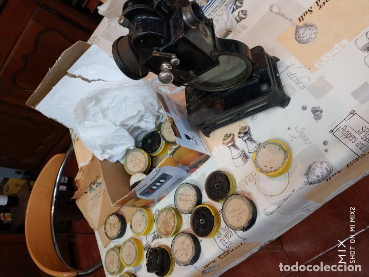 Antigüedades: Antiguo proyector frances pathe baby brevette+ 22 - Foto 5 - 160475566