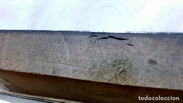Antigüedades: ANTIGUO CLICHÉ TIPOGRÁFICO, PLANCHA, TROQUEL O MATRIZ METÁLICA COBLES EN ALABANZA MARIA DELS DOLORS. - Foto 5 - 160477606