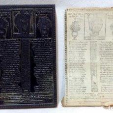 Antigüedades: ANTIGUO CLICHÉ TIPOGRÁFICO, PLANCHA, TROQUEL O MATRIZ METÁLICA GOIGS DEL GLORIOS APOFTOL SANT PAU. . Lote 160477790