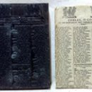 Antigüedades: ANTIGUO CLICHÉ TIPOGRÁFICO, PLANCHA O MATRIZ METÁLICA COBLES, O GOIGS DE LES BOTIFARRAS. CARAMELLAS.. Lote 160479002