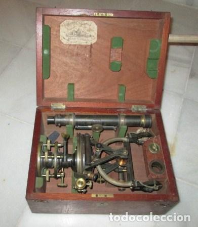 Antigüedades: teodolito fabricado por jose rosell.barcelona 1860 aproximado. - Foto 2 - 160636626