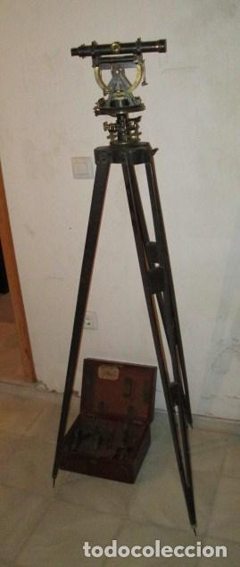 Antigüedades: teodolito fabricado por jose rosell.barcelona 1860 aproximado. - Foto 6 - 160636626