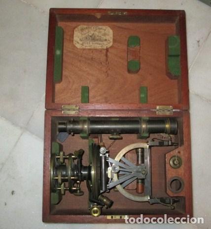 Antigüedades: teodolito fabricado por jose rosell.barcelona 1860 aproximado. - Foto 13 - 160636626