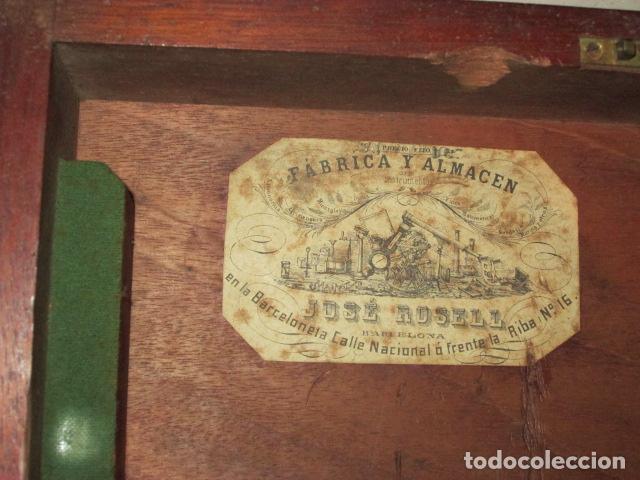 Antigüedades: teodolito fabricado por jose rosell.barcelona 1860 aproximado. - Foto 15 - 160636626