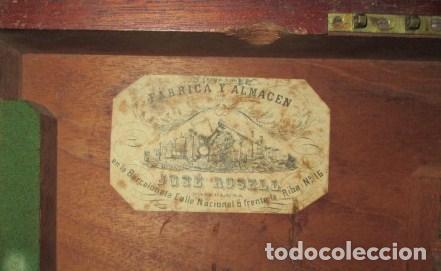 Antigüedades: teodolito fabricado por jose rosell.barcelona 1860 aproximado. - Foto 16 - 160636626