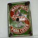 Antigüedades: CARTEL CHAPA PUBLICIDAD SINGER. . Lote 160776886