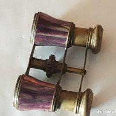 Antigüedades: BINOCULARES NACAR LILA S.XX. Lote 160849926
