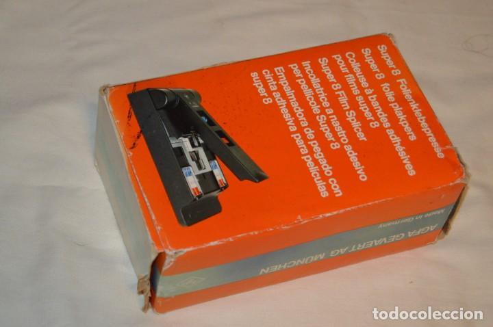 Antigüedades: ANTIGUA EMPALMADORA DE PELÍCULA SUPER 8 - FILM SPLICER - AGFA F8S AUTOMATIC - EN CAJA - ENVÍO 24H - Foto 17 - 160884930
